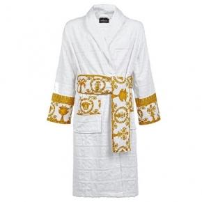 Халаты Одежда для бани и сауны Deluxe. Versace home collection Barocco and Robe халат махровый белый