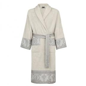 Халаты Одежда для бани и сауны Deluxe. Versace home collection I Heart ♡ Baroque халат махровый серый декор жаккард
