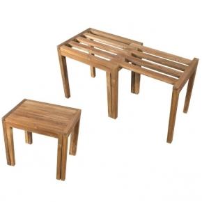 Банкетки для ванной Пуфы Интерьерные Табуреты для ванной и душа Откидные сиденья. Panca Teak табурет для ванной тиковый раскладной деревянный