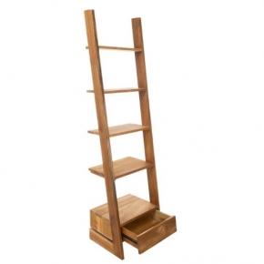 Этажерки для ванной. Scala Teak Этажерка тиковая деревянная 5 полок с ящиком