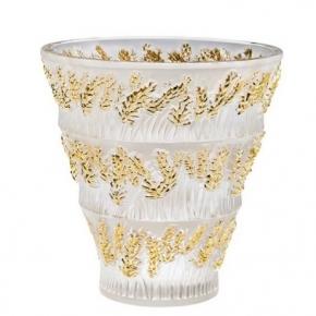 Вазы Deluxe. Ваза Provence золотая Lalique