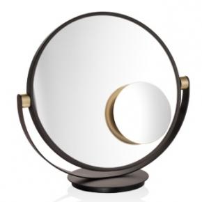 . Decor Walther Vanity бронза-золото матовое настольное косметическое зеркало 1х1 двухстороннее