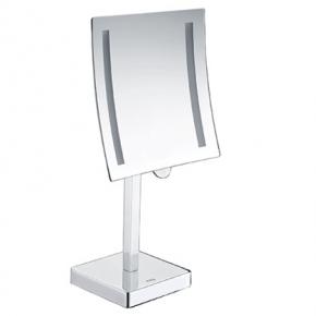 Зеркала косметические с подсветкой увеличением настенные настольные Зеркала с присосками. Wasserkraft K-1007 зеркало с LED-подсветкой 3-х кратным увеличением настольное