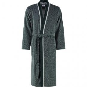 Халаты Одежда для бани и сауны Deluxe. Халат Cawo серебряно-чёрный хлопковый мужской