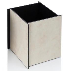 Аксессуары для кабинета Deluxe. Malaparte корзина для бумаг квадратная by GioBagnara Ivory