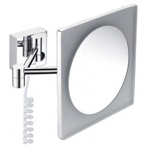 Зеркала косметические с подсветкой увеличением настенные настольные Зеркала с присосками. Зеркало косметическое с LED подсветкой 3-х увеличением квадратное настенное