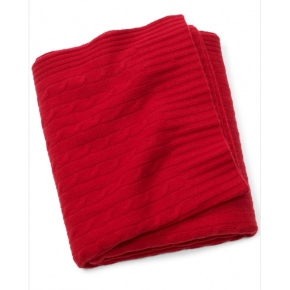 Пледы Покрывала Deluxe. CLASSIC RED плед кашемировый Ralph Lauren