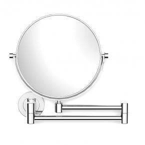 Зеркала косметические с подсветкой увеличением настенные настольные Зеркала с присосками. Зеркало косметическое Illusion PomdOr настенное хром двухстороннее 1х3