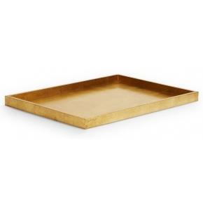 Аксессуары и Мебель для дома. GOLD LEAF Aerin Lauder поднос деревянный Золотой прямоугольный