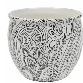 Кашпо. Кашпо керамическое с тёмным узором Etro