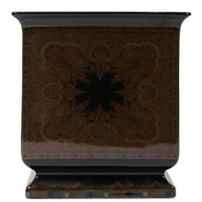 Кашпо. Кашпо керамическое квадратное с цветным декором Etro