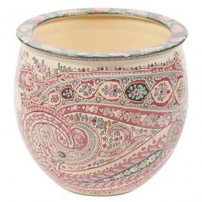 Кашпо. Кашпо керамическое с цветным узором Etro