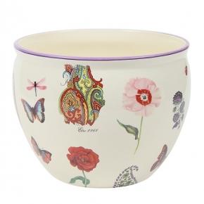 Кашпо. Кашпо керамическое с цветным декором Etro