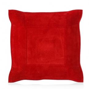 . Поднос квадратный Giobagnara Джек красный замша