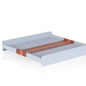 Аксессуары и Мебель для дома. Поднос кожаный квадратный Энзо каштан/кирпичный/лилово-серый GioBagnara