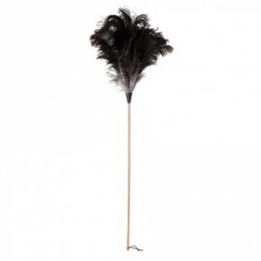 Уборка. Щётка кисточка для пыли из страусиного пера длинная 110 см