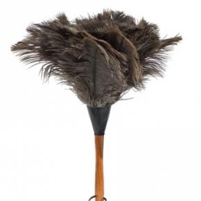 Уборка. Щётка кисточка для пыли из страусиного пера 35 см