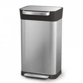 Мусорные баки и вёдра для кухни. Контейнер для мусора с прессом Titan 20 и 30 литров нержавеющая сталь