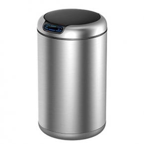 Сенсорные вёдра и баки для мусора. EKO сенсорное ведро для мусора 12 литров круглое нержавеющая сталь R2D2
