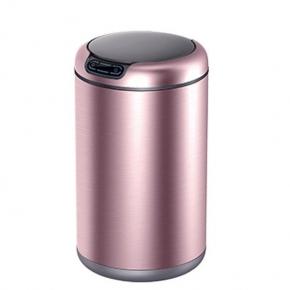 Сенсорные вёдра и баки для мусора. EKO сенсорное ведро для мусора 12 литров круглое Розовое золото