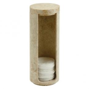 Контейнеры для ватных Дисков Шариков Палочек. Контейнер мраморный для ватных дисков светло-кремовый Luxor