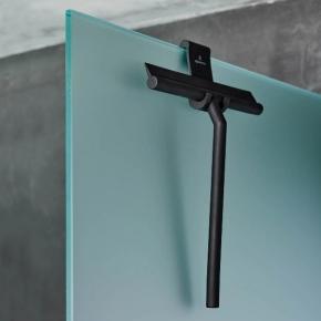 Скребки для стекла душевых кабин и зеркал. Aquanova Arvid чёрный скребок для стекла душевой кабины