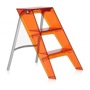 Стремянки Лестницы. Upper Kartell стремянка складная оранжевая