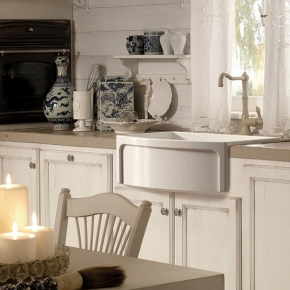 Раковины для кухни. Kerasan Hannah Devon Раковина кухонная керамическая 60 см белая