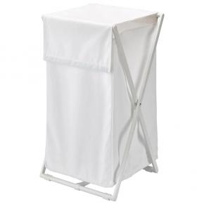 Корзины для белья. Aquanova Icon корзина для белья складная Белая текстильная