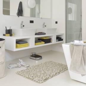 Коврики для ванной комнаты. Aquanova ROCCA linen коврик для ванной Лён 100х60