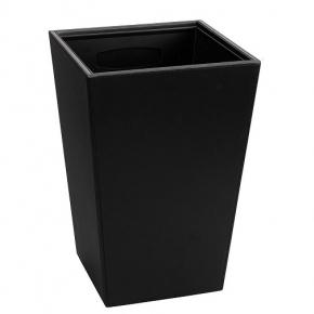 Офисные вёдра Корзины для бумаг Урны. Ведро кожаное квадратное Black 10 литров