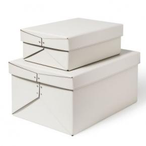 Хранение и порядок. Pinetti Origami кожаная коробка универсальная ёмкость белый
