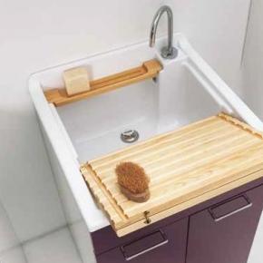 . Colavene раковина глубокая хозяйственная 60х60 см для постирочной