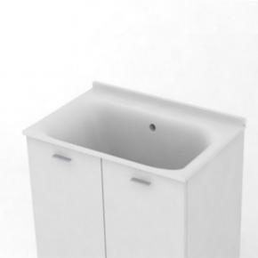 . KERASAN Comunita раковина глубокая 75х50 см керамическая без отверстия под смеситель
