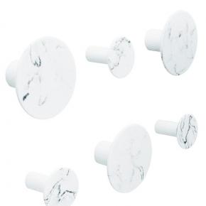 Аксессуары для ванной настенные. Hooks Marmor White крючки декор мрамор белый