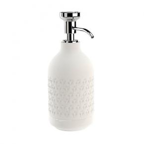 . EQUILIBRIUM POMDOR Hexagon White фарфоровые аксессуары для ванной дозатор хром