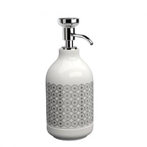 . EQUILIBRIUM POMDOR Circles фарфоровые аксессуары для ванной дозатор хром
