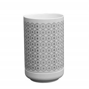 Аксессуары для ванной настольные. EQUILIBRIUM POMDOR Circles фарфоровые аксессуары для ванной стакан хром