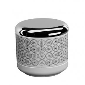 . EQUILIBRIUM POMDOR Circles фарфоровые аксессуары для ванной косметическая ёмкость с крышкой хром