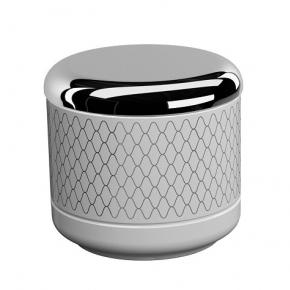 . EQUILIBRIUM POMDOR Netting фарфоровые аксессуары для ванной косметическая ёмкость с крышкой хром