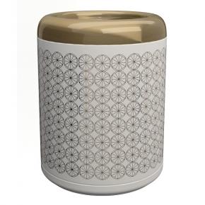 . EQUILIBRIUM POMDOR ведро для мусора фарфоровое Circles бронза