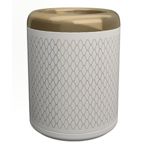 . EQUILIBRIUM POMDOR ведро для мусора фарфоровое Netting бронза