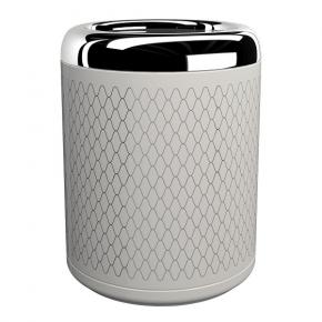 . EQUILIBRIUM POMDOR ведро для мусора фарфоровое Netting хром