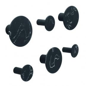 Аксессуары для ванной настенные. Hooks Marmor Black крючки декор мрамор чёрный