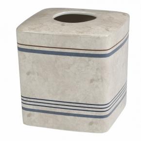 . Ticking Stripe салфетница настольная куб керамическая