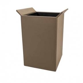 Офисные вёдра Корзины для бумаг Урны. Ведро кожаное квадратное Chocolate 9 литров