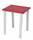 . Стул прямоугольный табурет для ванной Красный 5370R