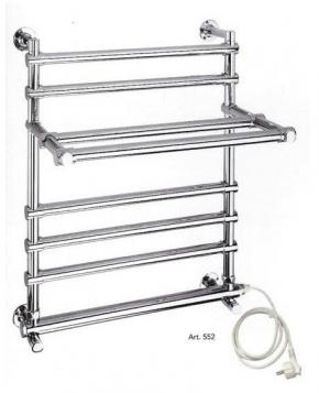 Полотенцесушители электрические и водяные. Margaroli полотенцесушитель электрический с полочкой ART.552(шнур) и 552/B(без шнура)