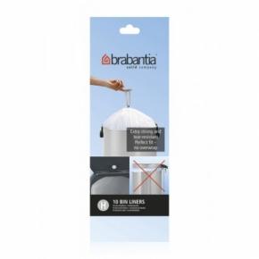 Мусорные баки и вёдра для кухни. Пакеты для мусора Brabantia (в рулонах) 40/50л 10шт. (размер H)
