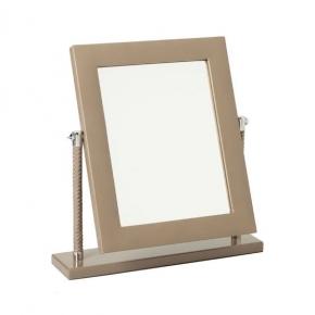 Зеркала косметические с подсветкой увеличением настенные настольные Зеркала с присосками. Vanity taupe by Riviere зеркало настольное кожаное